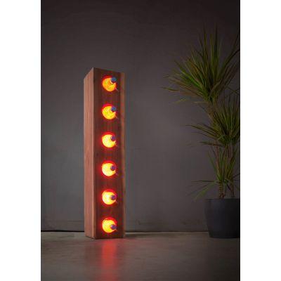 Lampa LED Wooden BAR Walnut Wi-fi Control