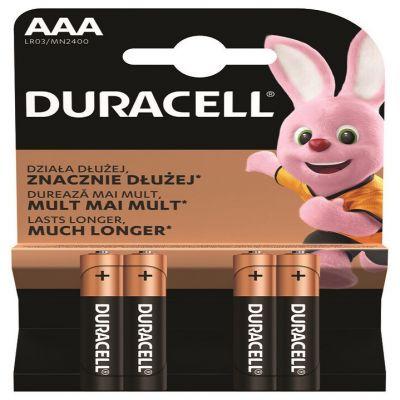 Bateria alkaliczna Duracell MN2400 Basic Duralock LR03 AAA C&B x 4