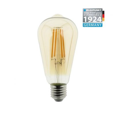 Blaupunkt Żarówka LED Filament E27 ST64 8W Amber Glass Ściemnialna