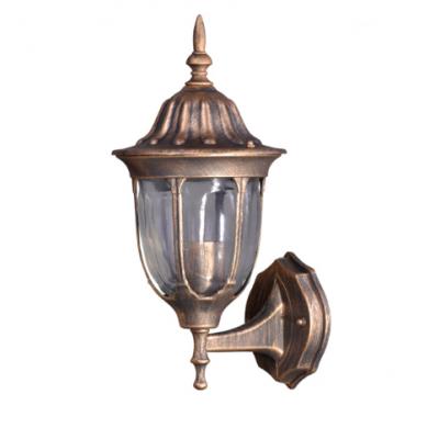 Lampa ścienna zewnętrzna Kaja K-5007A/N DOWN czarno-złoty