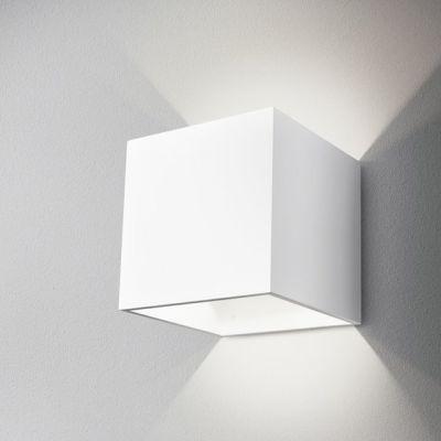 Kinkiet AQForm Maxi Cube Wall Biały Struktura