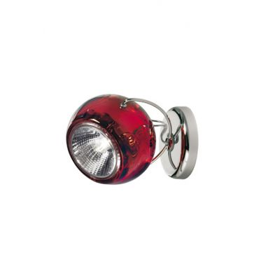 Kinkiet Fabbian D57G1303 Beluga Colour Rosso