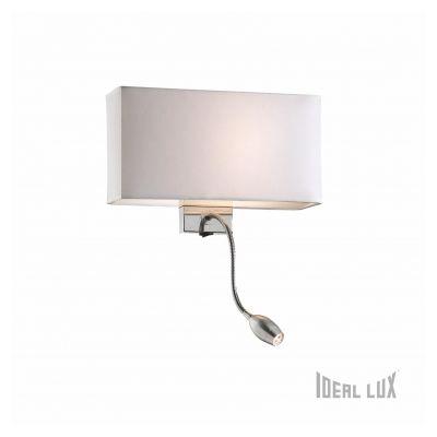 Lampa ścienna Hotel AP2 Bianco 035949 Ideal Lux Biała