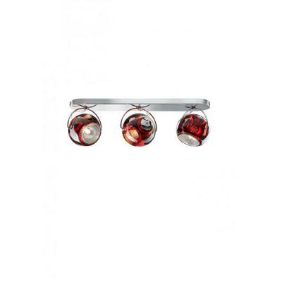 Kinkiet/lampa sufitowa Fabbian D57G2503 Beluga Colour 3 Luci Rosso
