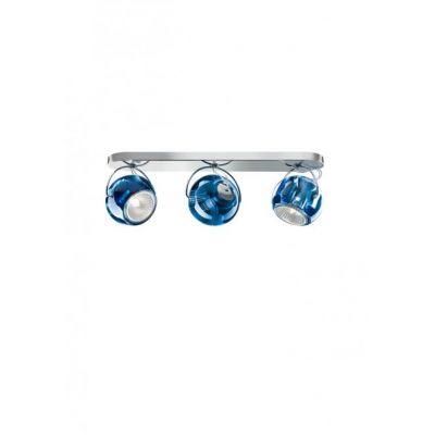 Kinkiet/lampa sufitowa Fabbian D57G2531 Beluga Colour 3 Luci Blu Scu