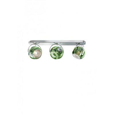 Kinkiet/lampa sufitowa Fabbian D57G2543 Beluga Colour 3 Luci Verde