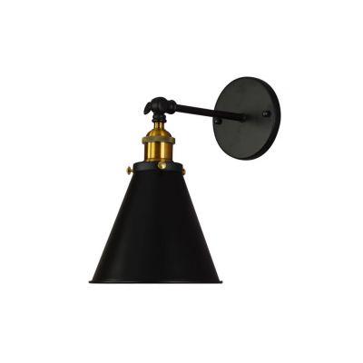 Kinkiet Lumina Deco LDW-B007-1-BK Rubi W1