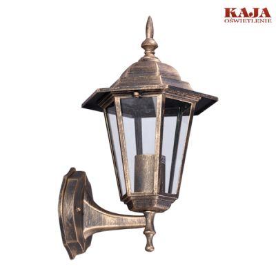 Lampa ścienna zewnętrzna Kaja K-5009A UP czarno -złota