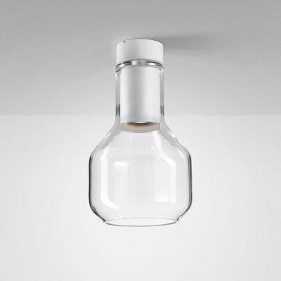 Lampa natynkowa AQForm Modern Glass Barrel GU10 TP Surface Biały Struktura