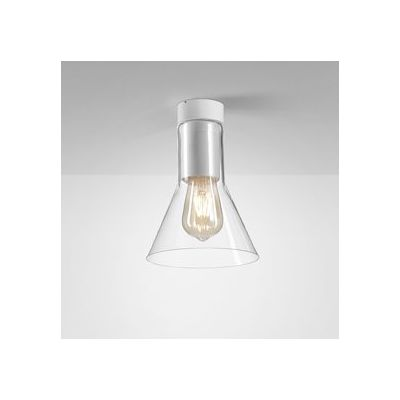 Lampa natynkowa AQForm 40405-0000-U8-PH-03 Modern Glass Flared E27 TP Surface Biały Mat