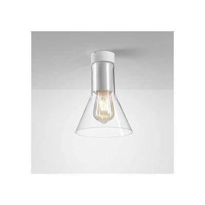 Lampa natynkowa AQForm Modern Glass Flared E27 TP Surface Biały Struktura