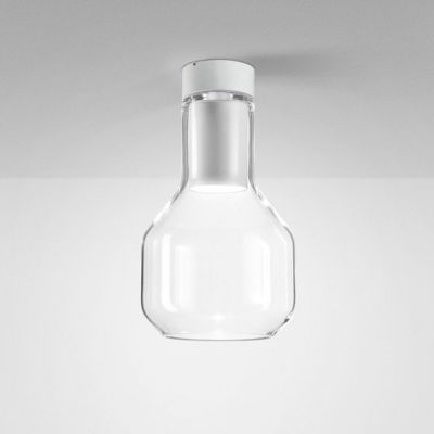 Lampa natynkowa AQForm Modern Glass Barrel LED 230V TP Surface Biały Struktura