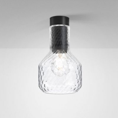 Lampa natynkowa AQForm Modern Glass Barrel E27 TR Surface Czarny Struktura