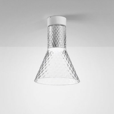 Lampa natynkowa AQForm Modern Glass Flared LED 230V TR Surface Biały Struktura
