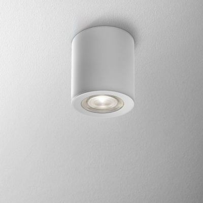 Lampa natynkowa AQForm Only Round Mini LED 230V Hermetic Surface Biały Struktura