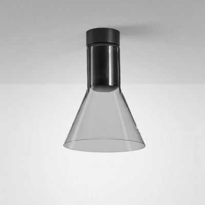 Lampa natynkowa AQForm Modern Glass Flared E27 SP Surface Czarny Struktura