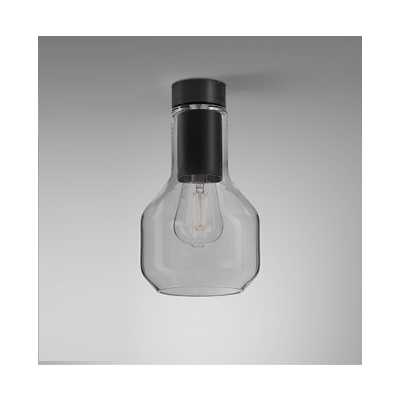 Lampa natynkowa AQForm Modern Glass Barrel E27 SP Surface Czarny Struktura