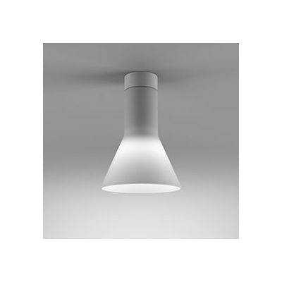 Lampa natynkowa AQForm Modern Glass Flared E27 WP Surface Biały Mat