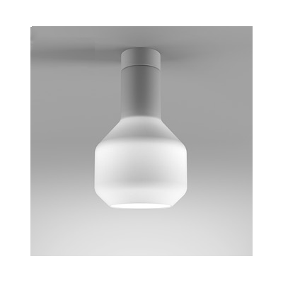 Lampa natynkowa AQForm Modern Glass Barrel LED 230V WP Surface Biały Struktura