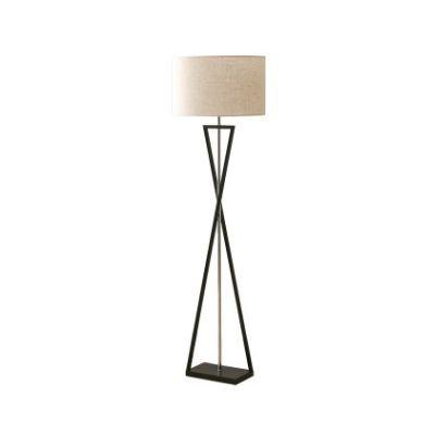 Lampa podłogowa Abigali Sand Glass biała