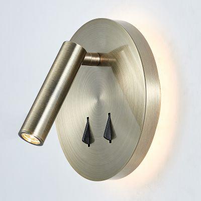 Lampa przyłóżkowa LED Italux SP7349-02B-ANT-B Nelly