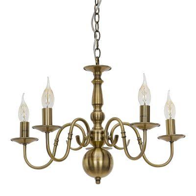 Lampa sufitowa Italux 6594-5P-AB Marion