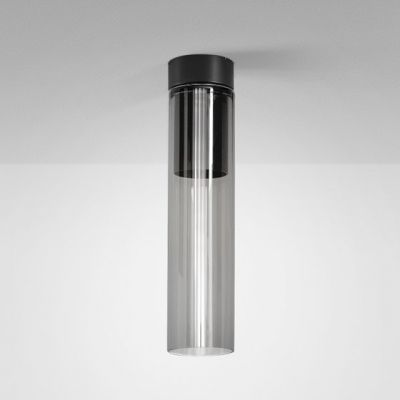 Lampa natynkowa AQForm Modern Glass Tube LED 230V SP Surface Czarny Struktura