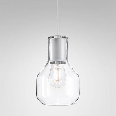Lampa wisząca AQForm 50475-0000-U8-PH-13 MODERN GLASS Barrel Biały struktura