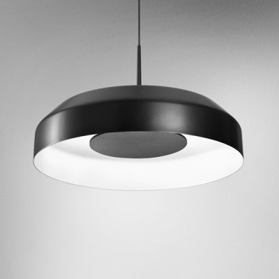Lampa wisząca AQForm 50518-M830-D0-PH-12 MAXI RING dot LED Czarny struktura