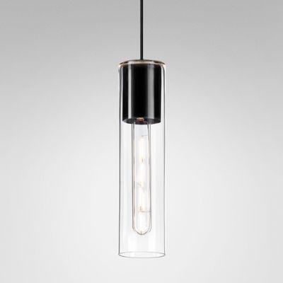 Lampa wisząca AQForm 50532-0000-U8-PH-12 MODERN GLASS Tube Czarny struktura