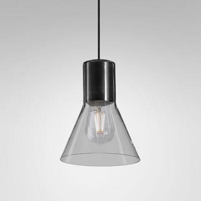 Lampa wisząca AQForm 50533-0000-U8-PH-12 MODERN GLASS Flared Czarny struktura