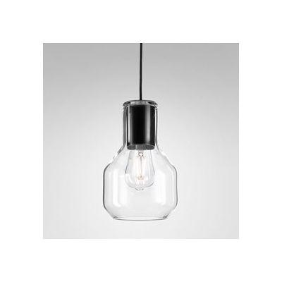 Lampa wisząca AQForm Modern Glass Barrel E27 Czarny Struktura