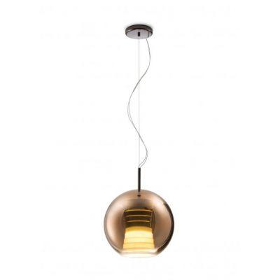 Lampa wisząca Fabbian D57A5341 Beluga Royal Ø30 Bronzo-LED