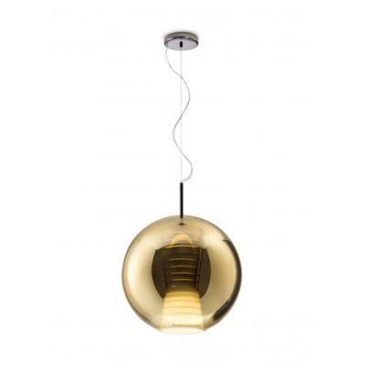 Lampa wisząca Fabbian D57A5541 Beluga Royal Ø40 Bronzo-LED