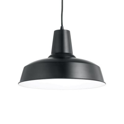 Lampa wisząca Ideal Lux 093659 Moby SP1 Nero