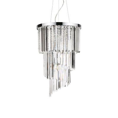 Lampa wisząca Ideal Lux 117737 Carlton SP8 Cromo