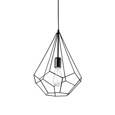 Lampa wisząca Ideal Lux 148175 Ampolla-3 SP1 Nero