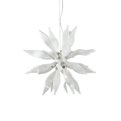 Lampa wisząca IdealLux 111957 Leaves SP8 Bianco