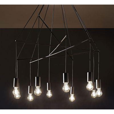 Lampa wisząca IdealLux 158860 Pop SP10 Nero