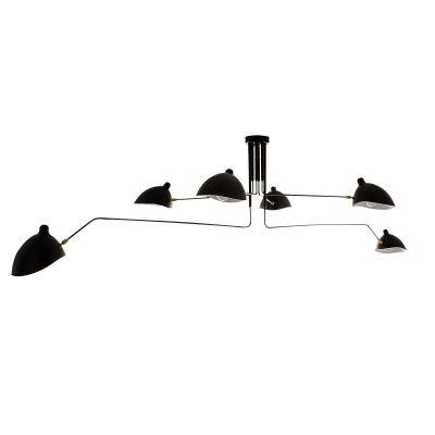 Lampa wisząca Italux MDE610/4+2 Davis Czarna