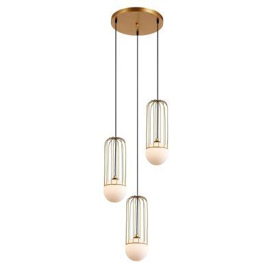Lampa wisząca Italux MDM-3938-3-GD Simon