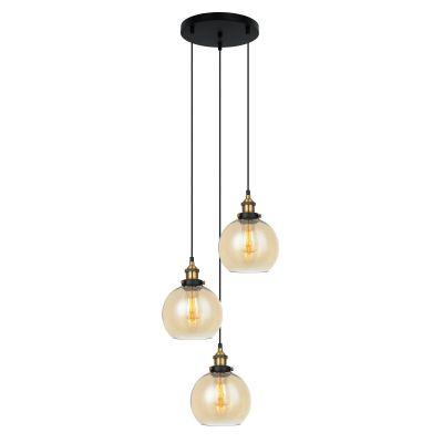 Lampa wisząca Italux MDM-4330-3-GDAMB Cardena