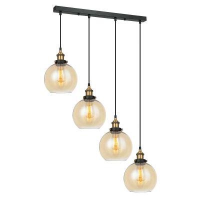 Lampa wisząca Italux MDM-4330-4-GDAMB Cardena