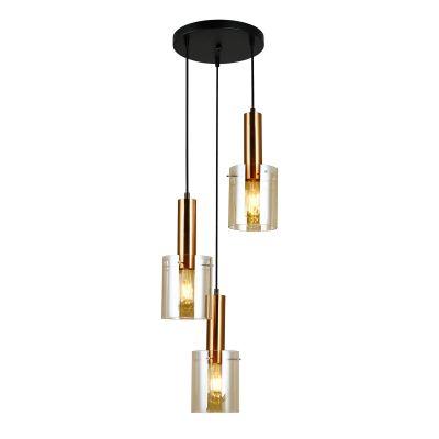 Lampa wisząca Italux PND-5581-3A-BROAMB Sardo