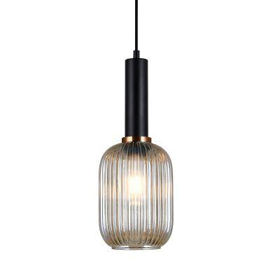 Lampa wisząca Italux PND-5588-1M-BKAMB Antiola