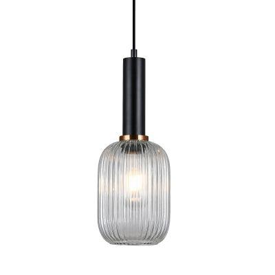 Lampa wisząca Italux PND-5588-1M-BKCL Antiola