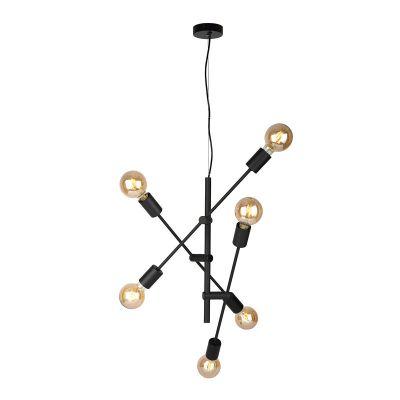 Lampa wisząca Italux PND-5986-6-BL Ferreia