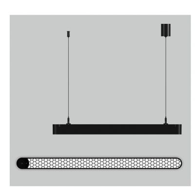 Lampa wisząca LED Abigali Office Linear with honey comb 45*78*643 15W 4000K