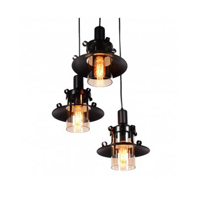Lampa wisząca Lumina Deco LDP-11328-3-BK Capri W3