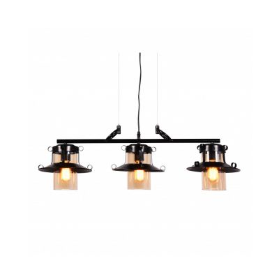Lampa wisząca Lumina Deco LDP-11328B-3-PR-BK Capri Trio